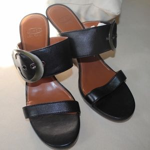 Joan & David Circa Buckle Heel Sandal Size 10.5